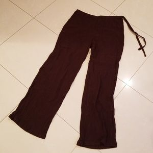 Newport News Brown Crepe Summer Pants